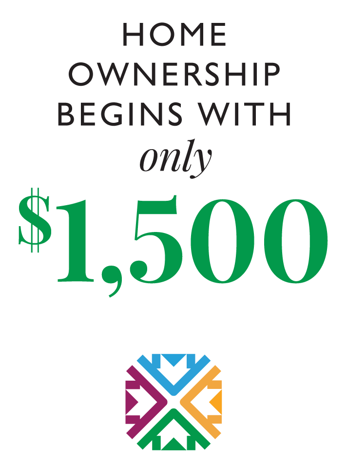 Home Ownership begins with only $1,500 Down